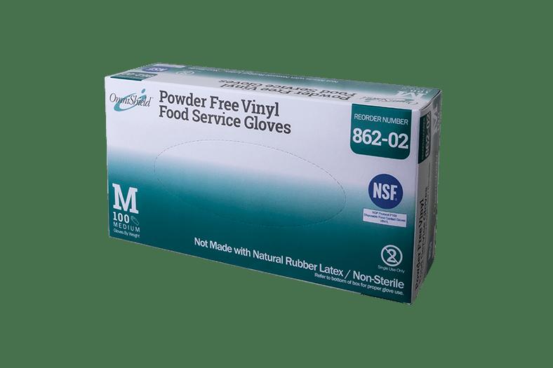 OmniShield #862 NSF Certified Vinyl Powder Free Food Service Glove