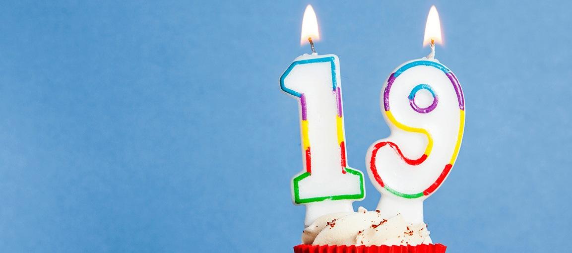 Omni Celebrates #19 19th birthday candles