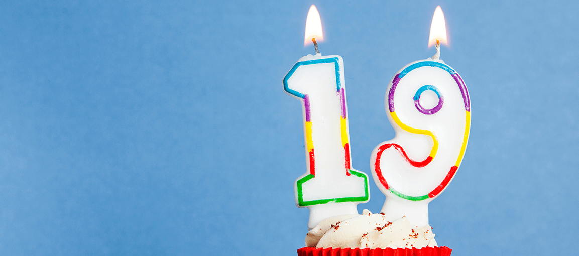Omni Celebrates #19 19th birthday candles