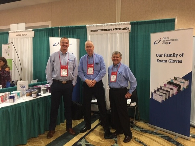Will Leslie (Regional Sales Manager), Art Miller (Regional Sales Manager), and Ron Fleitz (Vice President of Sales & Marketing) from Omni International Corp. IMCO Convention 2019